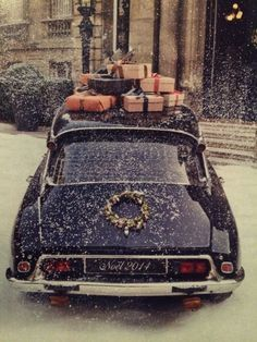 Uploaded by Chocoholic. Find images and videos about vintage, winter and christmas on We Heart It - the app to get lost in what you love. Christmas Car, Christmas Scenes, Little Christmas, Country Christmas, Vintage Christmas, Christmas Holidays, Merry Christmas, Vintage Winter, Christmas Shopping