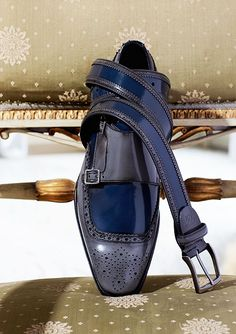 #Zapatos Canali #Shoes Love this blue shoe