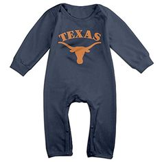 PCY Newborn Babys Boys  Girls Texas Longhorns Long Sleeve Bodysuit Outfits For 624 Months Navy Size 6 M *** Read more reviews of the product by visiting the link on the image.