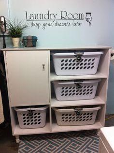 Beau Laundry Sorter/ Storage Cabinet