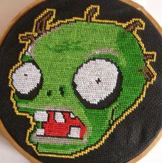 Plants Vs Zombies cross stitch by H3XA6RAM.deviantart.com on @DeviantArt
