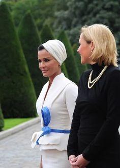 SheikhaMozah of Qatar in Dior, 2012