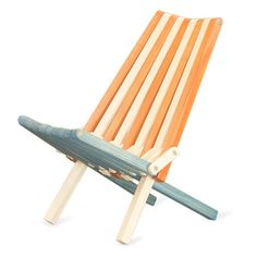 Outdoor GloDea Xquare X36 Foldable Wooden Patio Lounge Chair - XQCH36YPAF