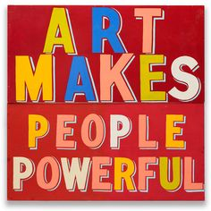 """Art as a human right and why creativity is being """"pushed out of"""" London: we meet Bob and Roberta Smith."""