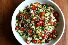 ❤️tabbouleh by alexandracooks. This recipe is delicious and versatile, can be made with other grains like farro, etc.