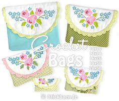 Crochet Bags ITH 13x18