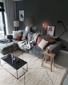Home interior Design Videos Bedroom - Rustic Home interior Farmhouse Dining Rooms - - - Home interior Design Cozy Exposed Brick - Victorian Home interior Paint Colors For Living Room, My Living Room, Home And Living, Living Room Decor, Bedroom Decor, Cosy Living Room Warm, Bedroom Rustic, Salons Cosy, Inspire Me Home Decor