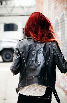 Wolf biker jacket