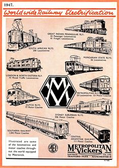 1947 Metropolitan Vickers advert