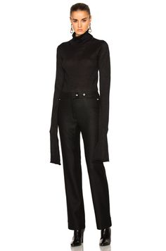 Acne Studios Jiao Turtleneck Sweater in Black