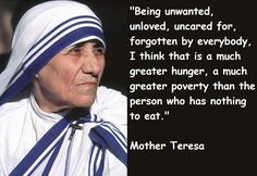 Great poverty ✝ Quote by Mother Teresa #MotherTeresa