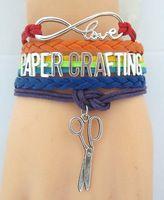 Infinity  Love PAPER CRAFTING  Bracelet  Customized  Wristband friendship Bracelets