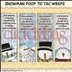 #7546 Snowman Poop Tic Tac Wraps