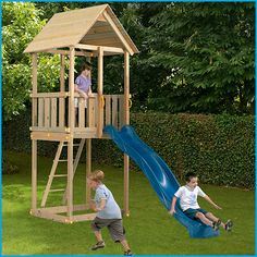Wooden Climbing Frame - The Blue Rabbit Cabanna. #wooden climbing frames for kids see more at www.woodenclimbingframe.co.uk