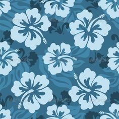 Illustration about Seamless pattern of Hawaiian Hibiscus flowers and leaves. Illustration of hibiscus, leaves, fabric - 14128160 Blue Hibiscus, Hibiscus Flowers, Blue Flowers, Lilo Stitch, Adobe Indesign, Hawaii Pattern, Stoff Design, Hawaiian Flowers, Pattern Illustration