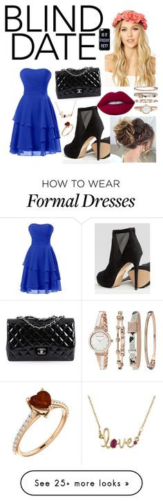 """Blind Dates"" by hanna1banana on Polyvore featuring ALDO, Chanel, Forever 21, Lime Crime, Anne Klein and Les Néréides"
