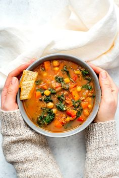 This Slow Cooker Tuscan Sausage and Kale Soup is a hearty, veggie-filled comfort food option for cold days - just dump it all in the crockpot then set it and forget it! Ground Turkey Soup, Healthy Ground Turkey, Ground Turkey Recipes, Slow Cooker Pork, Slow Cooker Recipes, Cooking Recipes, Pork Recipes, Crockpot Recipes, Advocare Recipes