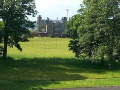 Better photo of Hunterston House located across the pasture area from Hunterston Castle. West Kilbride, Ayrshire, Scotland June 2014