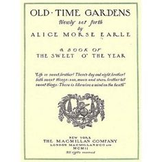 http://p-interest.in/redirector.php?p=B007PJ1D8C  Old Time Gardens (Illustrated) (Kindle Edition)