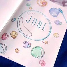 Bubble Theme | Bullet Journal Monthly Spread