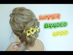 SHORT HAIRSTYLE SUMMER BRAIDED UPDO |  Awesome Hairstyles