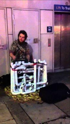 Coolest busker I've ever seen [PIPE GUY] ORIGINAL VIDEO [2014]