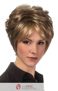The Symone by Estetica Designs brings a new dimension to the classic pixie. The wispy long sides of the wig add a bit of character, while the loose curls offer volume and texture. The tapered nape add