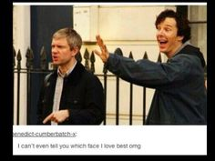 """Martin looks like the angry parent demanding the child to """"come back this instant"""" and Benedict looks like it was his idea in the first place """"bye have a good time!"""" --pinning for the comment"""