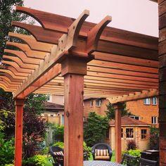 Image result for cedar deck pergola