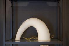 Lampada ta tavolo in vetro