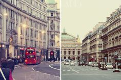 London vs Paris | Architecture. There are only two places in the world where we can live happy: at home and in Paris. - Ernest Hemingway | inspired by parisvsnyc.blogspot.it/