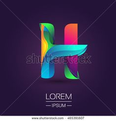 H letter colorful logo, Vector design template elements for your application or…