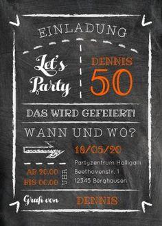 Kreide-Party 50 karte (Vorderseite)