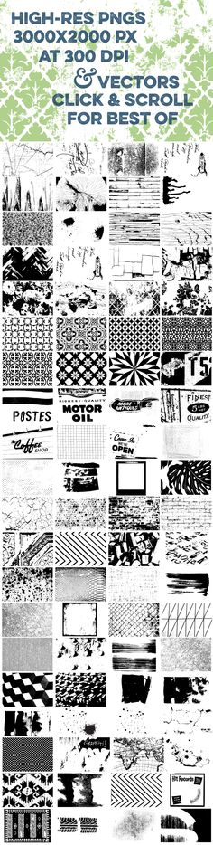 211 Vector Textures by mousemade on Creative Market