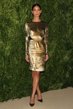 Fabulously Spotted: Lily Aldridge Wearing Veronica Beard - CFDA and Vogue 2013 Fashion Fund Finalists Celebration - http://www.becauseiamfabulous.com/2013/11/lily-aldridge-wearing-veronica-beard-cfda-and-vogue-2013-fashion-fund-finalists-celebration/