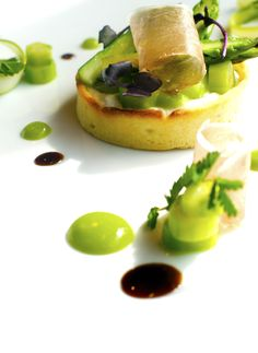A delectable Asparagus Tart - on our summer menu