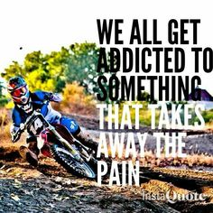For the sweet love of MOTOCROSS! Our ultimate list of motocross quotes are dirty, funny, serious and always true. Check out our favorite motocross sayings Bike Ride Quotes, Motocross Quotes, Dirt Bike Quotes, Motocross Love, Motocross Girls, Racing Quotes, Biker Quotes, Motorcycle Quotes, Motocross Helmets