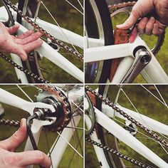 The Chain Genie by @spinkingclothing a great way to get perfect chain tension with ease check them out at spinkingclothing.bigcartel.com #chaingenie #spinkingclothing #handcrafted #wood #chaintension #tool #HizokuCycles HizokuCycles.com