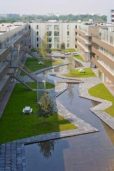 De Kameleon housing in Amsterdam, the Netherlands by NL Architects   Photo: Marcel van der Burg   (10 Beautiful Photos)