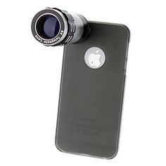 USD $ 26.99 - 9X Telephoto Lens with Ultraslim Matte PC Hard Case for iPhone 5, Free Shipping On All Gadgets!