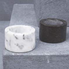 Natural Marble Salt and Pepper Bowls from INARTISAN