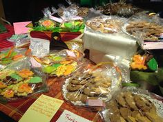 The 4th annual Buy Local Bash. My Thanksgving and Christmas cookies!