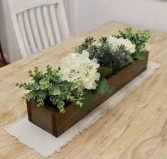 88 Incredible Diy Rustic Home Decor Ideas is part of Rustic wooden box centerpiece - Home decorations are a big part of the furniture industry Since I started working in the furniture business in 2007 […] Wooden Box Centerpiece, Farmhouse Table Centerpieces, Wooden Planter Boxes, Decoration Table, Centerpiece Ideas, Centerpiece For Kitchen Table, Wedding Centerpieces, Flower Box Centerpiece, Wood Boxes