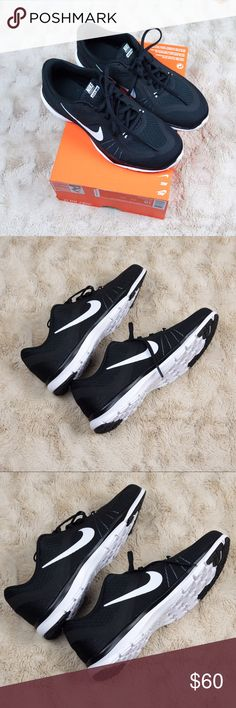 NWT Women's Nike Flex Trainer  These Women's Nike flex trainer shoes are classic and pair perfect as a go to workout sneaker or to just wear out and about! Never worn and are brand new! Comes with box but box is missing top. Nike Shoes Sneakers