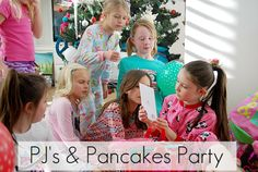 pj's and pancakes party