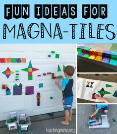 Fun Ideas for Using Magna-Tiles - really unique and easy ideas for using magnetic blocks.