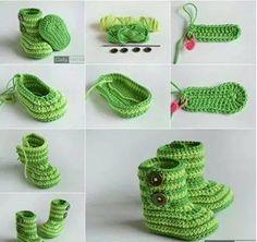 escarpines para bebe a crochet paso a paso - Buscar con Google