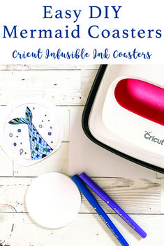 Learn how to make these Merm-azing coasters with Cricut Infusible Ink and the step by DIY from Everyday Party Magazine #InfusibleInk #DIYGift #CricutProject