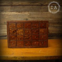 Vintage 20 Drawer Wooden Parts Cabinet by IndustrialArtifact