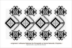 Semne Cusute: motive traditionale romanesti din Basarabia Folk Embroidery, Learn Embroidery, Embroidery Stitches, Embroidery Patterns, Cross Stitch Patterns, Knitting Patterns, Palestinian Embroidery, Beading Patterns, Folk Art
